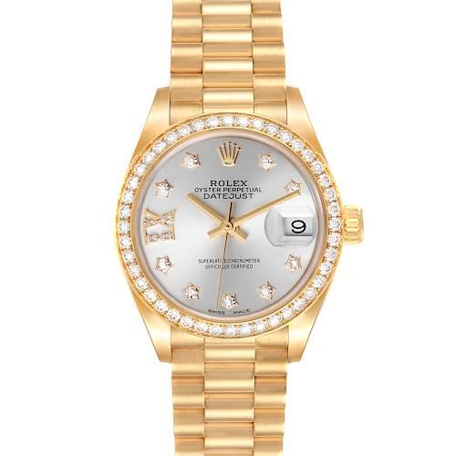 Photo of Rolex President Ladies 18k Yellow Gold Diamond Ladies Watch 279138 Box Card