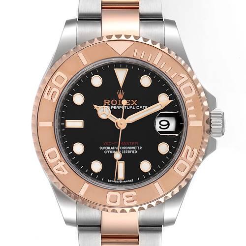 Photo of Rolex Yachtmaster 37 Midsize Steel Rose Gold Mens Watch 268621 Unworn