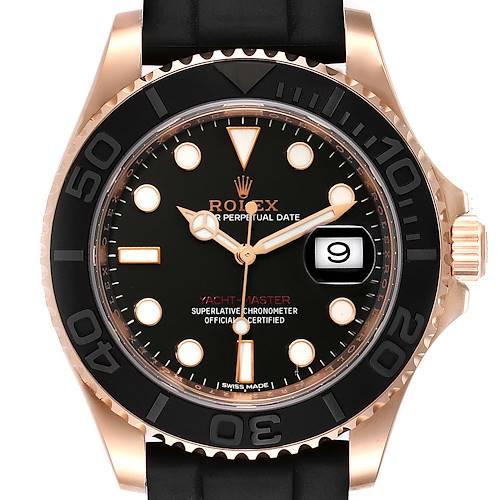 Photo of Rolex Yachtmaster 40mm Everose Gold Rubber Strap Watch 116655 Unworn