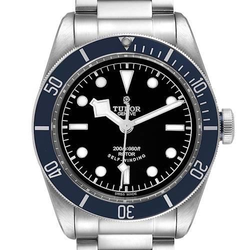 Photo of Tudor Heritage Black Bay Blue Bezel Steel Watch 79220B Unworn