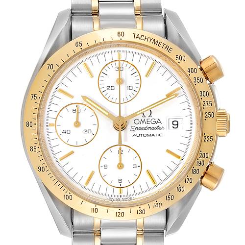 Photo of Omega Speedmaster Date Steel Yellow Gold Chronograph Watch 3311.20.00
