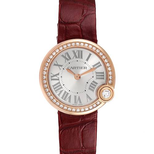 Photo of Cartier Ballon Blanc Rose Gold Diamond Ladies Watch WJBL0005 Unworn