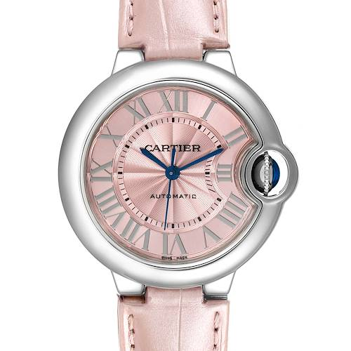 Photo of Cartier Ballon Bleu 33 Pink Dial Steel Ladies Watch WSBB0002 Unworn