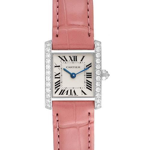 Photo of Cartier Tank Francaise White Gold Diamond Ladies Watch WE100251 Unworn