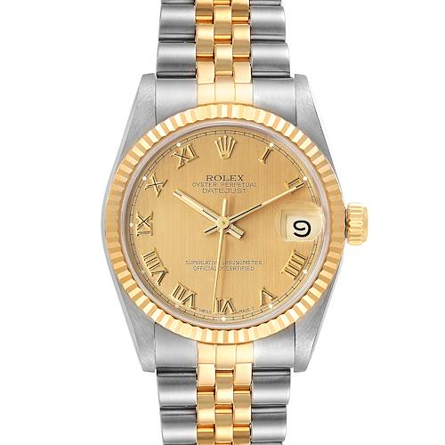 Photo of Rolex Datejust Midsize 31 Champagne Dial Steel Yellow Gold Watch 68273