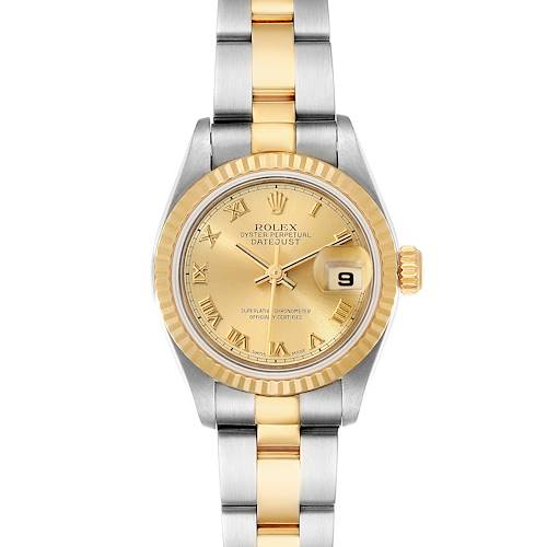 Photo of Rolex Datejust Steel Yellow Gold Champagne Dial Ladies Watch 79173 Box Papers