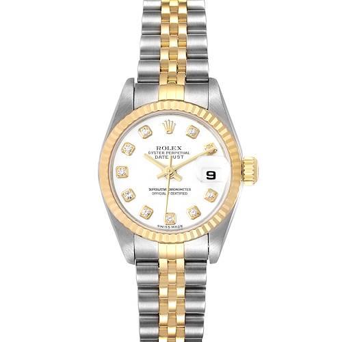 Photo of Rolex Datejust Steel Yellow Gold White Diamond Dial Ladies Watch 79173