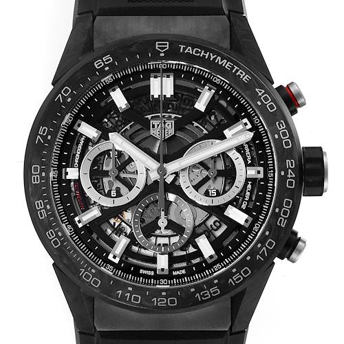 Photo of TAG Heuer Carrera Calibre 02 Skeleton Carbon Watch CBG2A91 Unworn