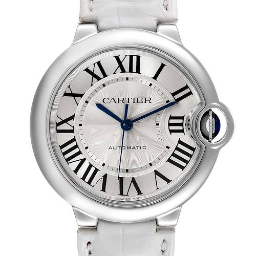 Photo of Cartier Ballon Bleu Automatic Stainless Steel Mens Watch W69017Z4 Box Papers