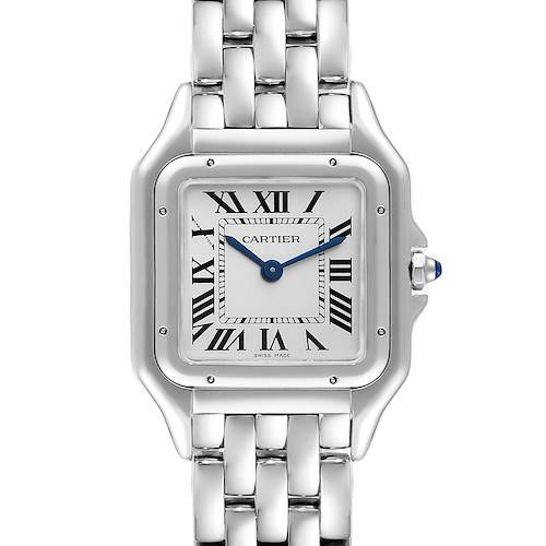 Photo of Cartier Panthere Midsize 27mm Steel Ladies Watch WSPN0007 Box Card