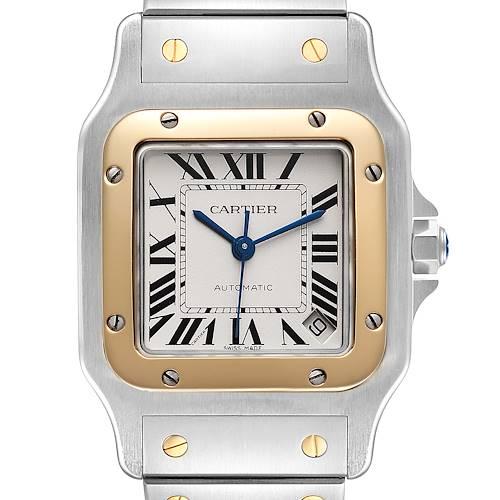 Photo of Cartier Santos Galbee XL Steel Yellow Gold Mens Watch W20099C4