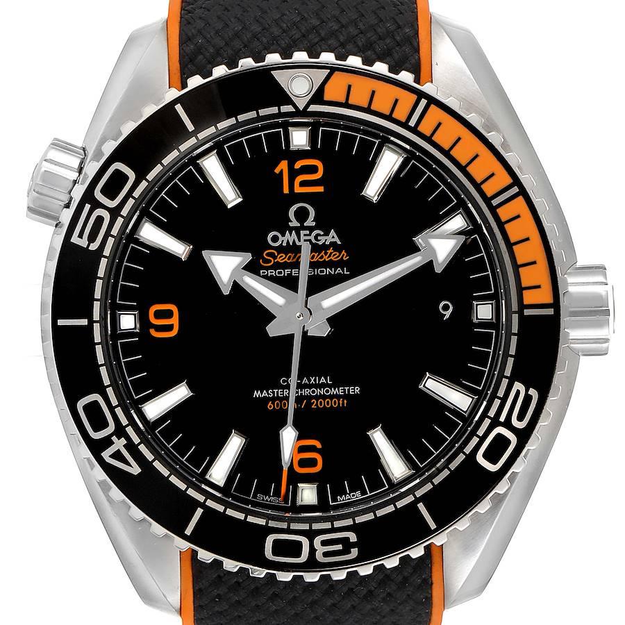 Omega Planet Ocean Black Orange Bezel Watch 215.32.44.21.01.001 Unworn SwissWatchExpo