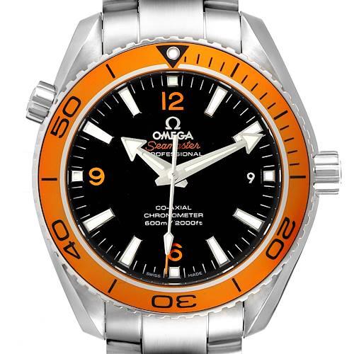 Photo of Omega Seamaster Planet Ocean Orange Bezel Watch 232.30.42.21.01.002 Box Card