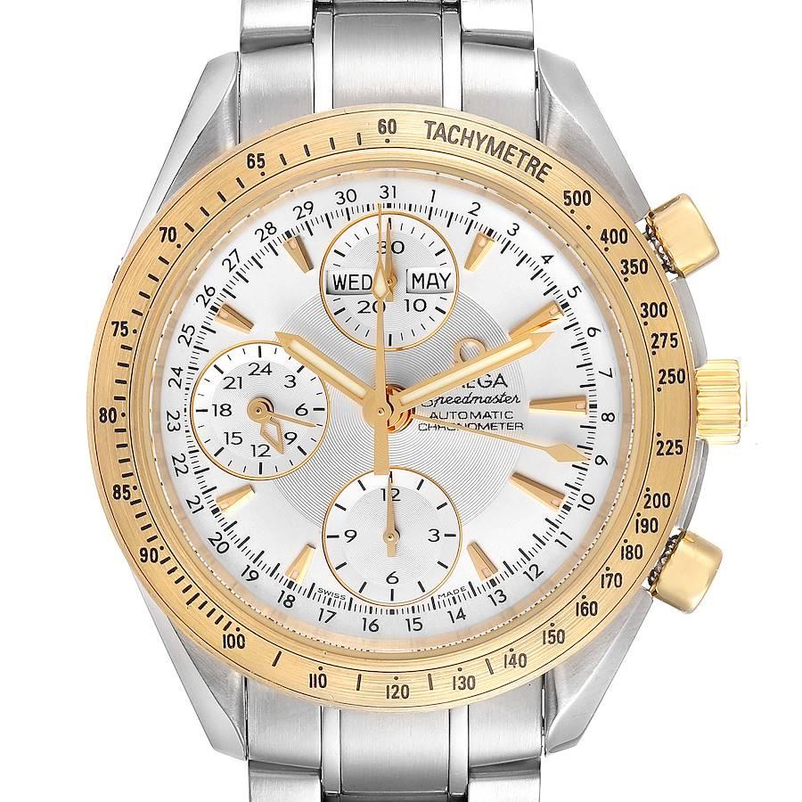 Omega Speedmaster Day Date Steel Yellow Gold Watch 323.21.40.44.02.001 Box Card SwissWatchExpo