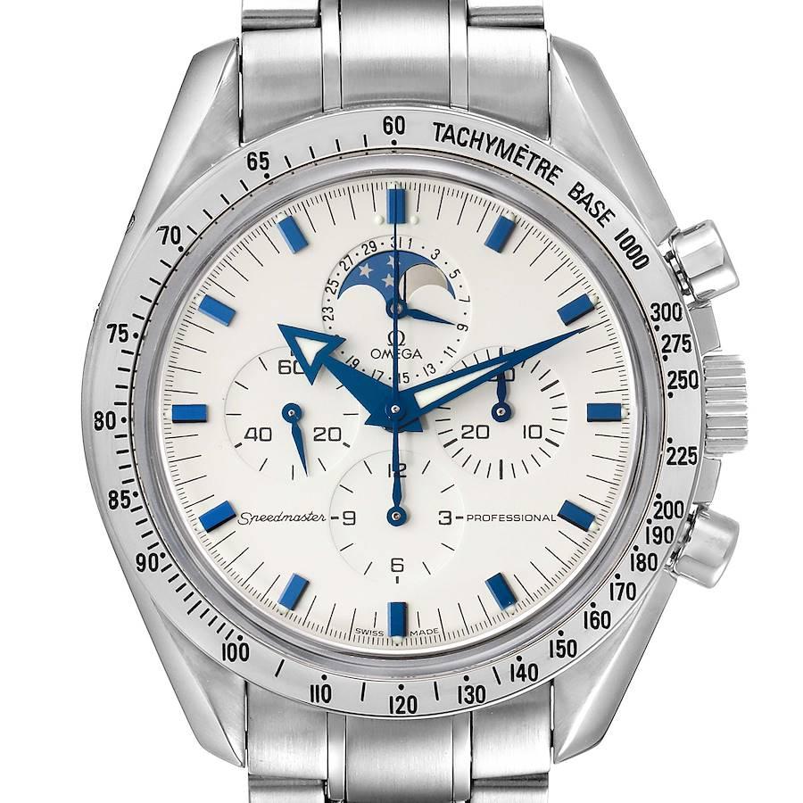 Omega Speedmaster MoonPhase Chronograph Mens Watch 3575.20.00 Box Card SwissWatchExpo