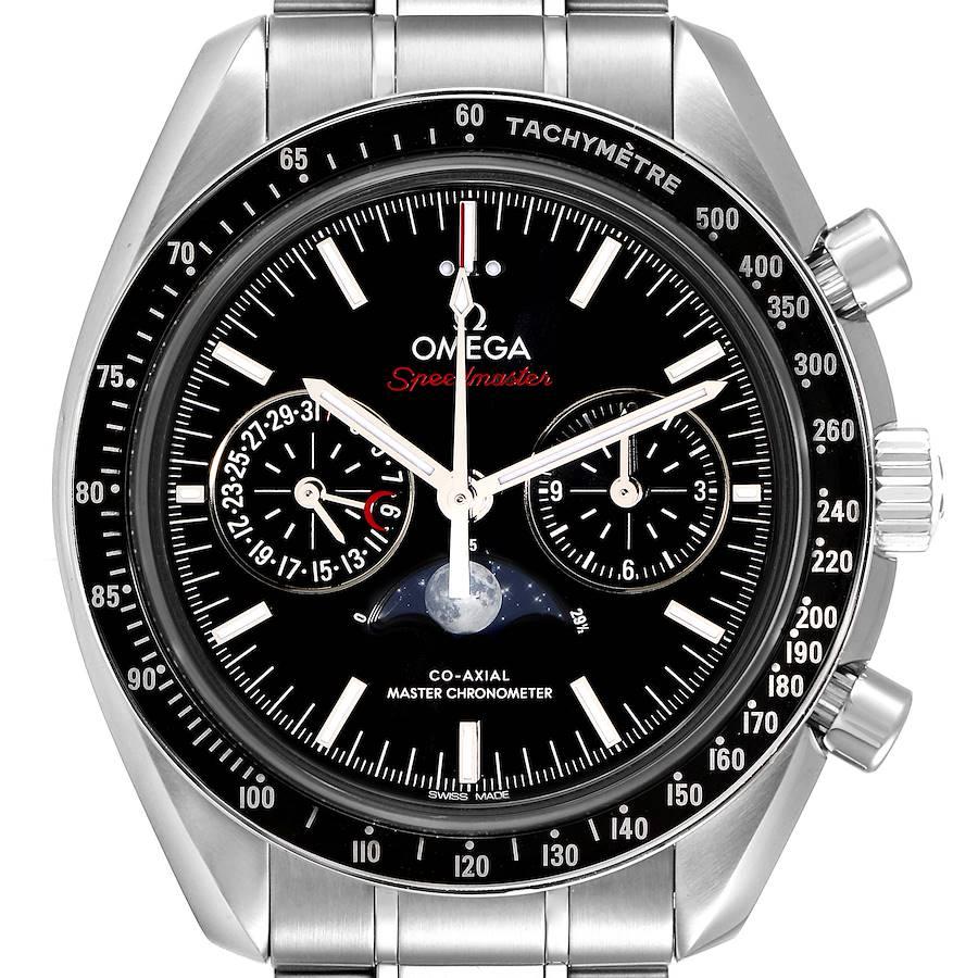 Omega Speedmaster Moonphase Chronograph Watch 304.30.44.52.01.001 Box Card SwissWatchExpo