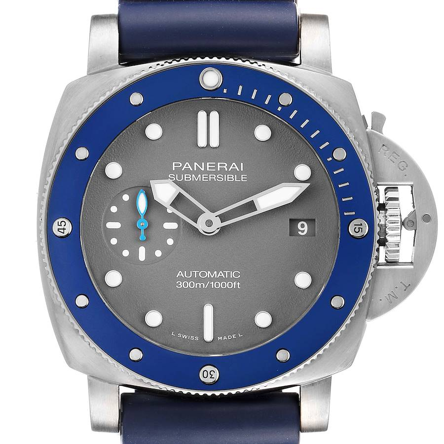 Panerai Luminor Submersible Grey Dial Steel Mens Watch PAM00959 Unworn SwissWatchExpo