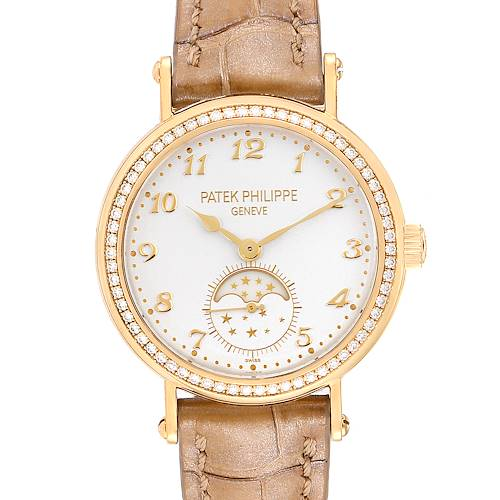 Photo of Patek Philippe Calatrava Moonphase Yellow Gold Diamond Ladies Watch 7121