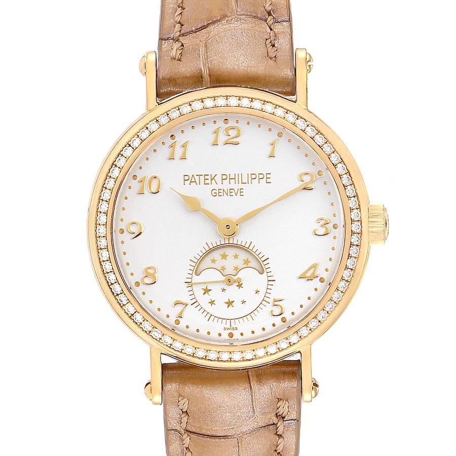 Patek Philippe Calatrava Moonphase 18K Yellow Gold Diamond Ladies Watch 7121 SwissWatchExpo