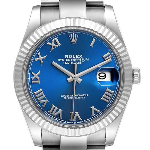 Photo of Rolex Datejust 41 Steel White Gold Blue Dial Steel Mens Watch 126334 Unworn
