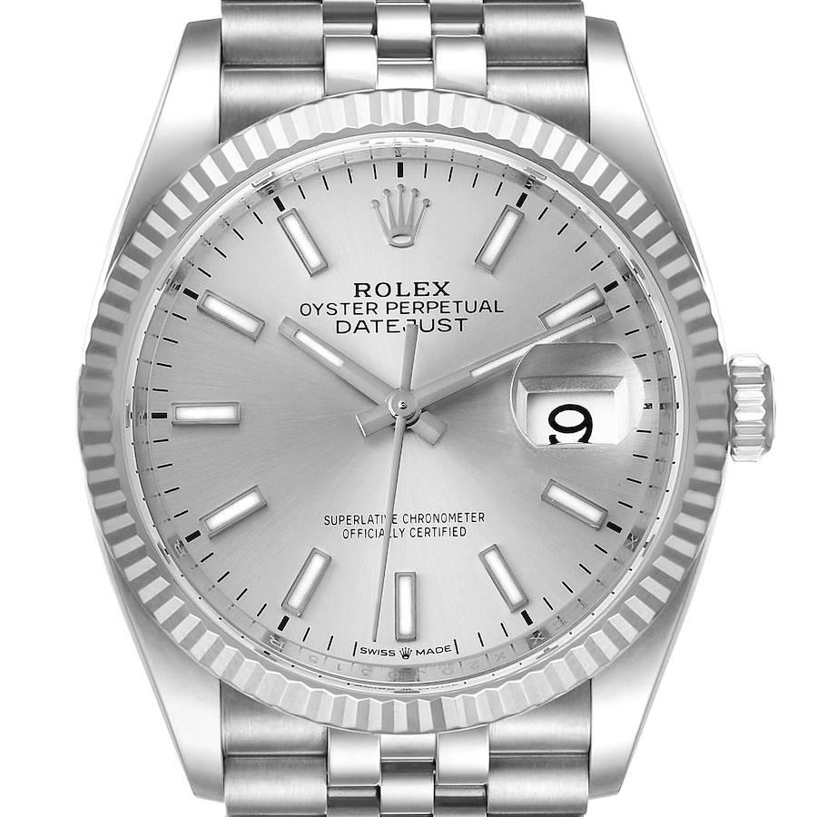 Rolex Datejust Steel White Gold Silver Dial Mens Watch 126234 Unworn SwissWatchExpo