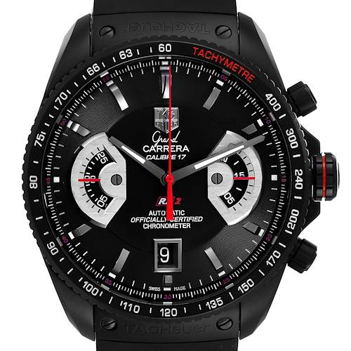 Photo of Tag Heuer Grand Carrera Titanium Black PVD Mens Watch CAV518B Unworn
