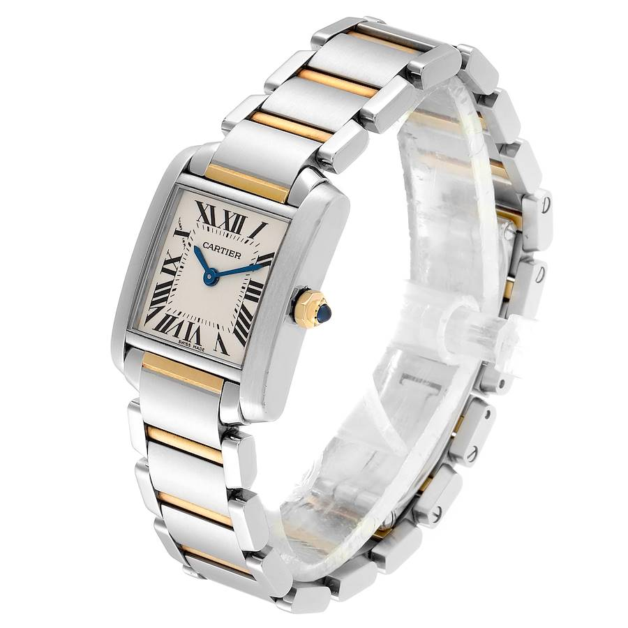 Cartier Tank Francaise 20mm Steel Yellow Gold Ladies Watch W51007Q4 SwissWatchExpo