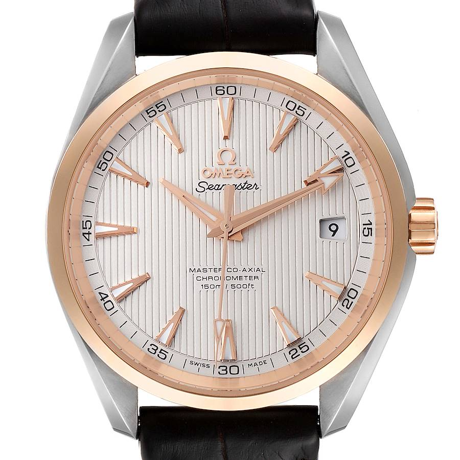 Omega Seamaster Aqua Terra Steel Rose Gold Watch 231.23.42.21.02.001 Box Card SwissWatchExpo