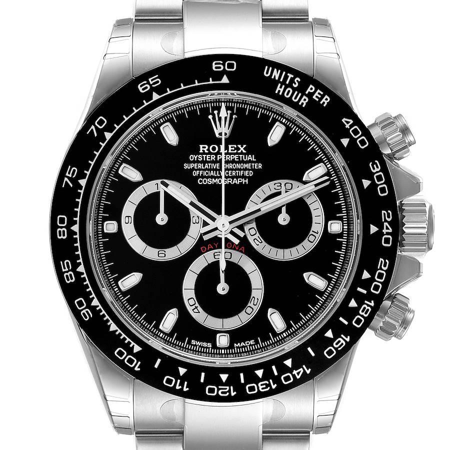 Rolex Cosmograph Daytona Ceramic Bezel Black Dial Mens Watch 116500 Unworn SwissWatchExpo