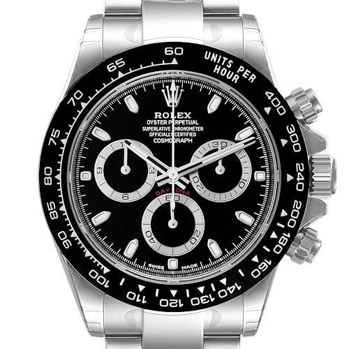 Photo of Rolex Cosmograph Daytona Ceramic Bezel Black Dial Mens Watch 116500 Unworn