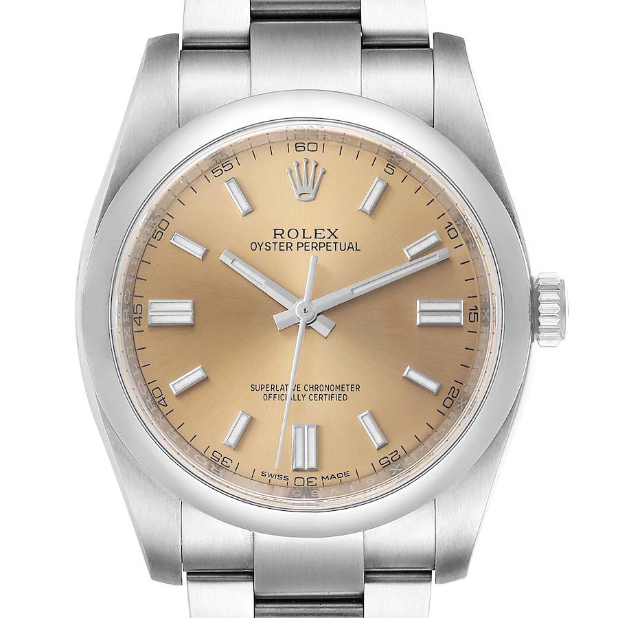 Rolex Oyster Perpetual 36 White Grape Dial Steel Mens Watch 116000 Box Card SwissWatchExpo