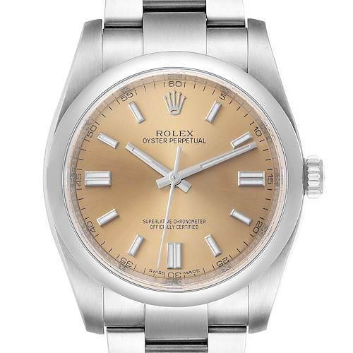 Photo of Rolex Oyster Perpetual 36 White Grape Dial Steel Mens Watch 116000 Box Card