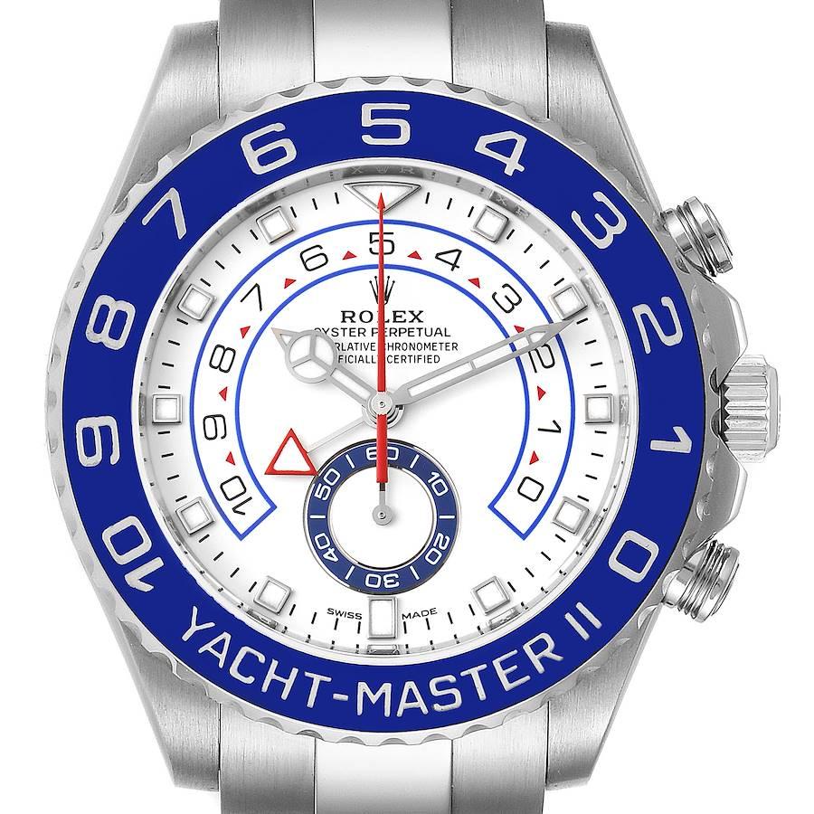 Rolex Yachtmaster II 44 Blue Cerachrom Bezel Mens Watch 116680 Box Card SwissWatchExpo