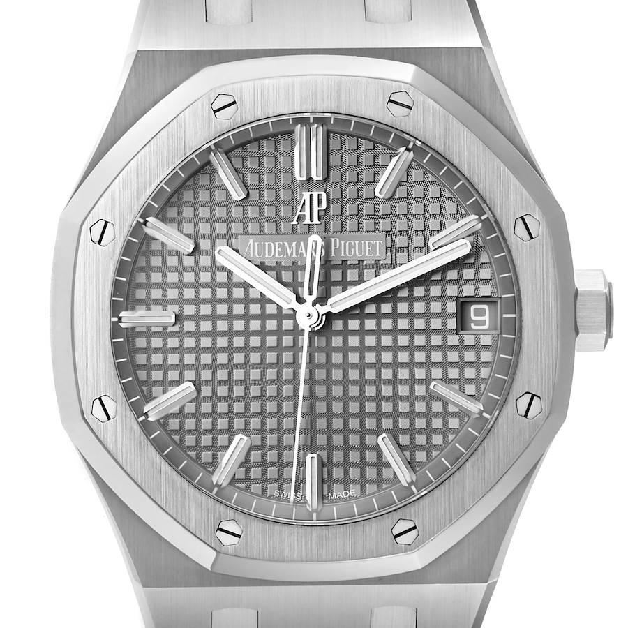 Audemars Piguet Royal Oak Black Dial Steel Mens Watch 15500ST Unworn SwissWatchExpo