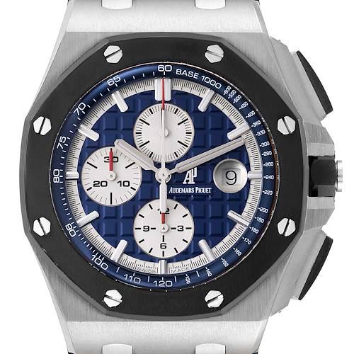 Photo of Audemars Piguet Royal Oak Offshore Platinum Watch 26401PO Box Papers