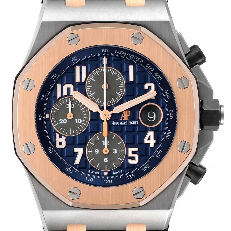 Audemars Piguet Royal Oak Offshore Steel Rose Gold Watch 26471ST Box Card SwissWatchExpo