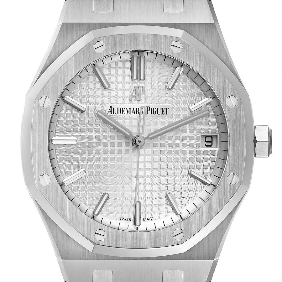 Audemars Piguet Royal Oak Silver Dial Steel Mens Watch 15500ST Unworn SwissWatchExpo