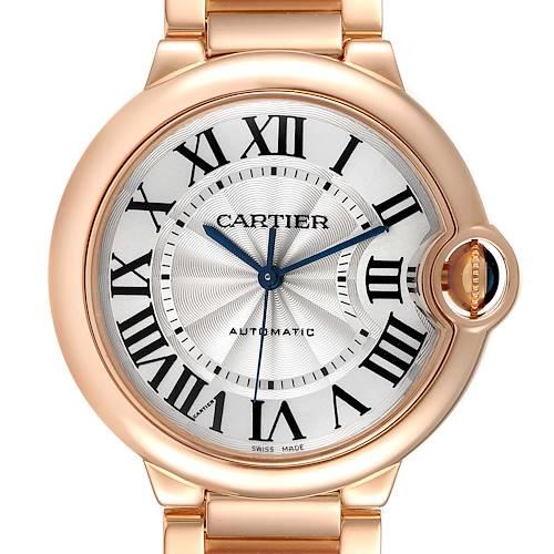 Photo of Cartier Ballon Bleu 36mm Automatic Rose Gold Ladies Watch WGBB0043