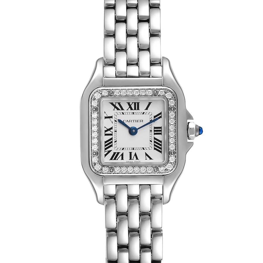 Cartier Panthere Small Steel Diamond Ladies Watch W4PN0007 Unworn SwissWatchExpo