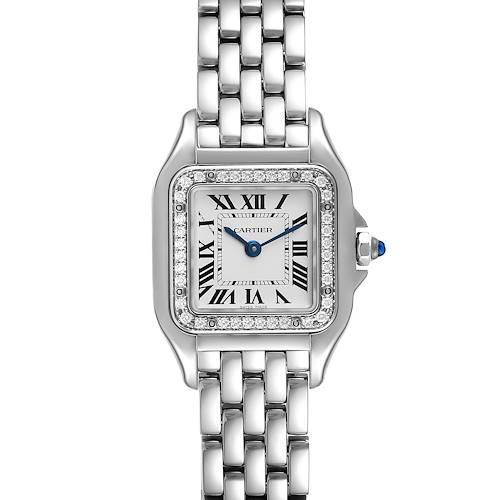 Photo of Cartier Panthere Small Steel Diamond Ladies Watch W4PN0007 Unworn