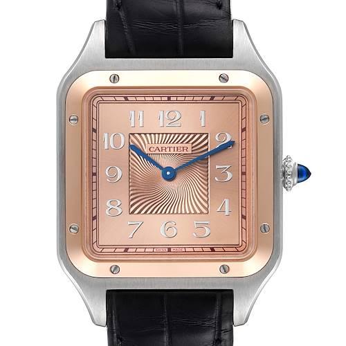 Photo of Cartier Santos Dumont XL Steel Rose Gold LE Mens Watch W2SA0025 Unworn