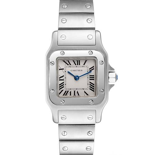 Photo of Cartier Santos Galbee Silver Dial Small Steel Ladies Watch W20056D6 Box Papers