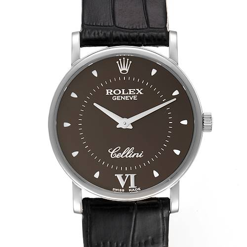Photo of Rolex Cellini Classic 18k White Gold Brown Dial Unisex Watch 5115