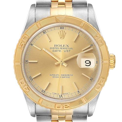 Photo of Rolex Datejust Turnograph Steel Yellow Gold Mens Watch 16263