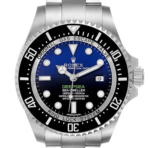 Photo of Rolex Seadweller Deepsea Cameron D-Blue Steel Watch 116660 Box Card