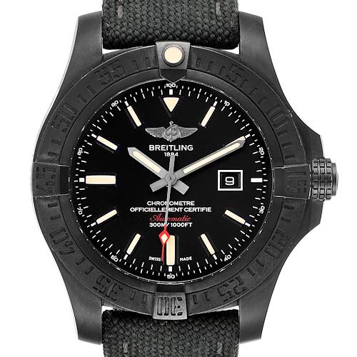 Photo of Breitling Avenger Blackbird 48 Titanium Canvas Strap Mens Watch V17310 Box Papers