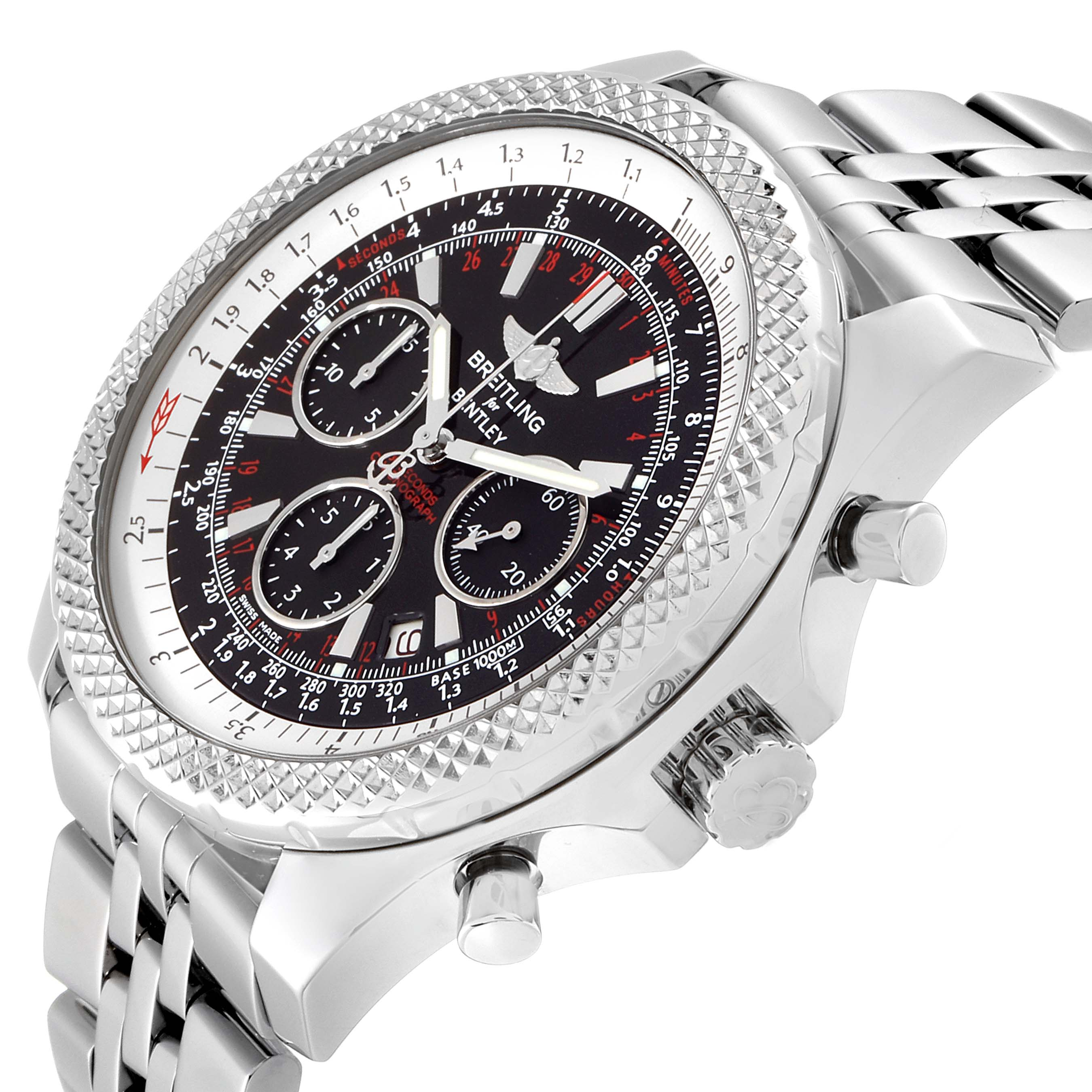 Breitling Bentley Motors Special Edition Chronograph Mens Watch A25364 Box Papers SwissWatchExpo