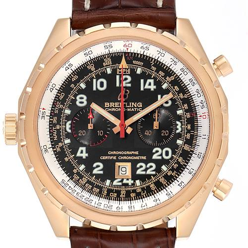 Photo of Breitling Chronomatic Limited Edition Rose Gold Watch H22360 Box Papers
