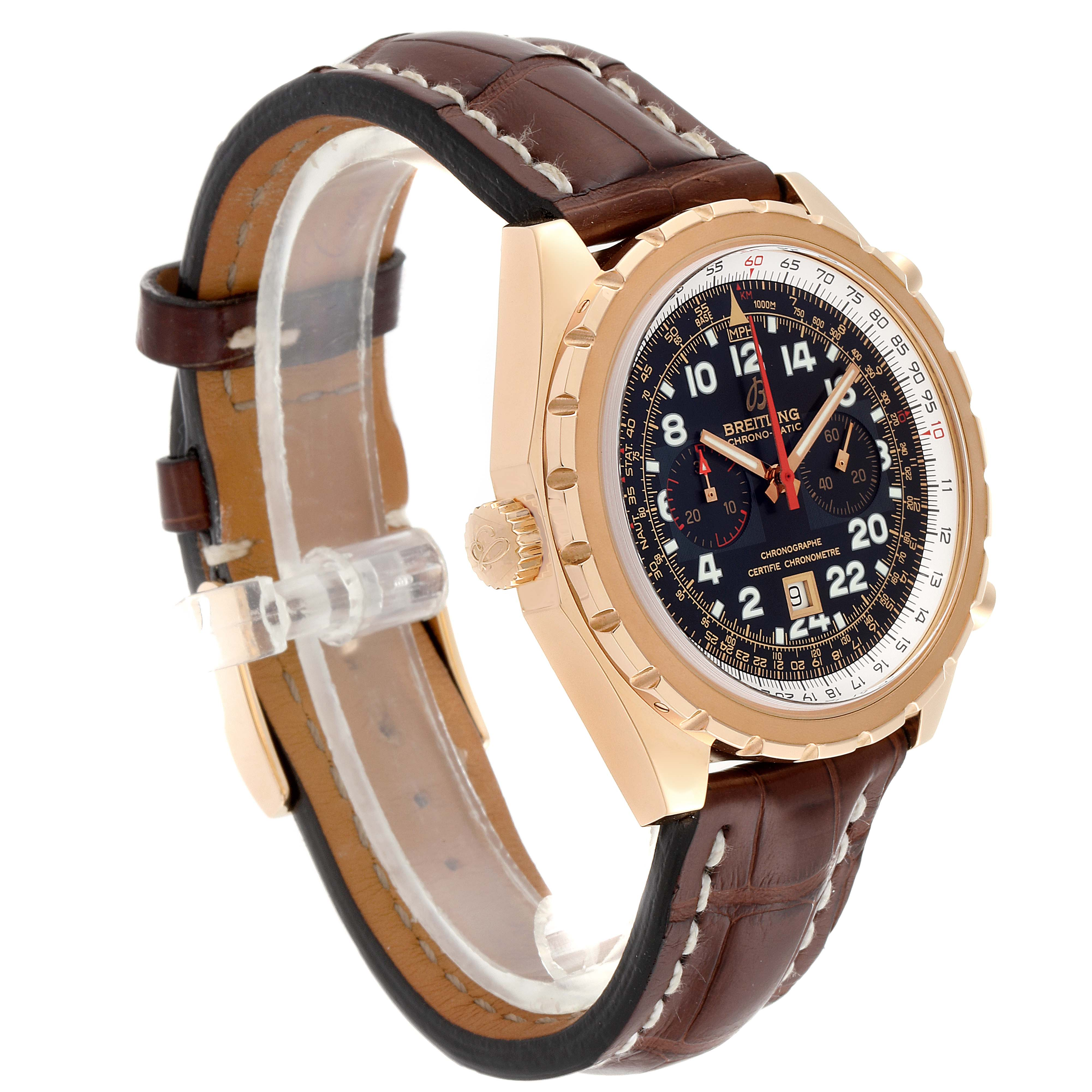 Breitling Chronomatic Limited Edition Rose Gold Watch H22360 Box Papers SwissWatchExpo