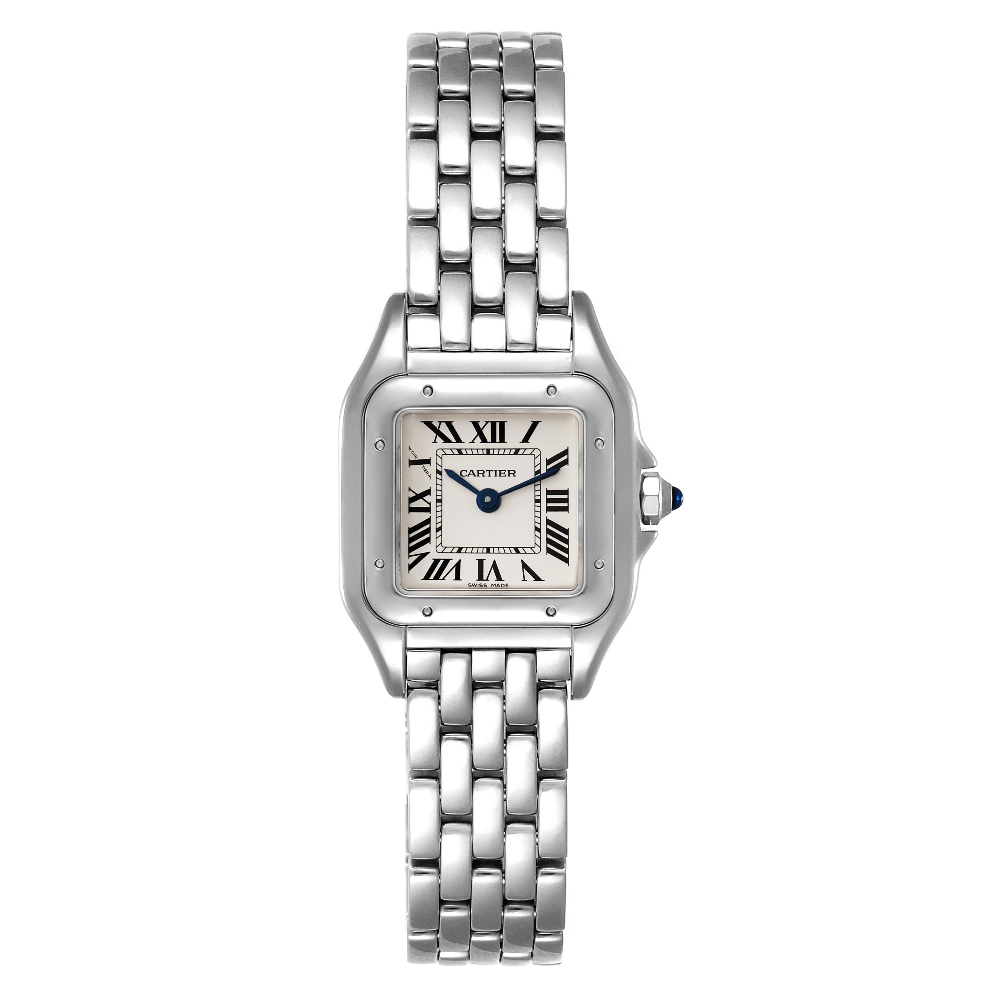 Cartier Panthere Midsize 22mm Steel Ladies Watch WSPN0006 Box SwissWatchExpo